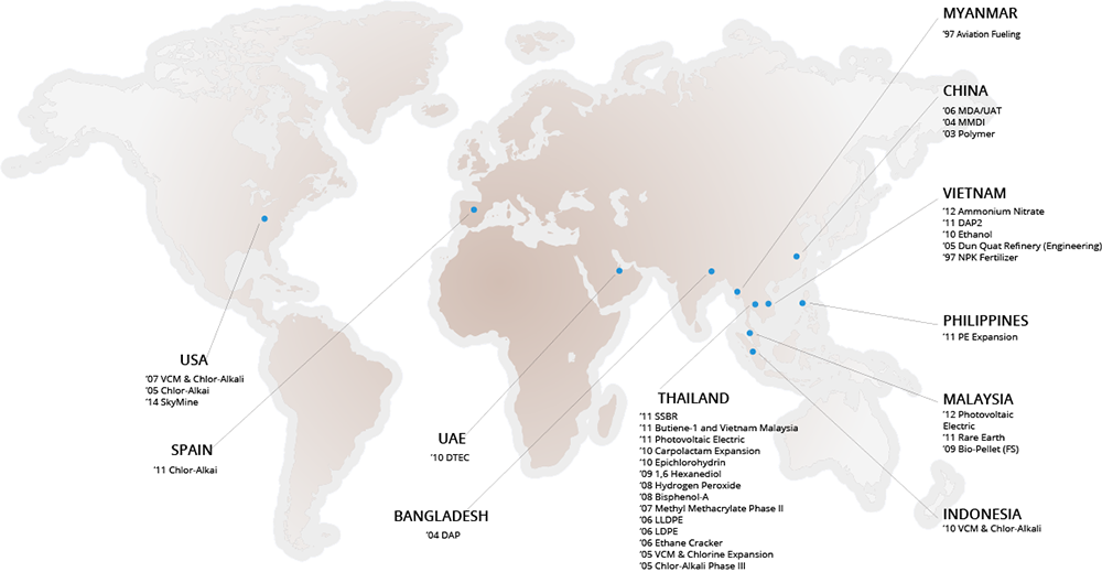Toyo-Thai Global Locations